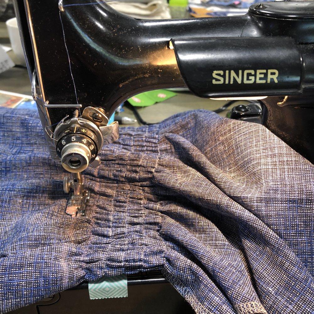 Eeeek…elastic thread for the shirring
