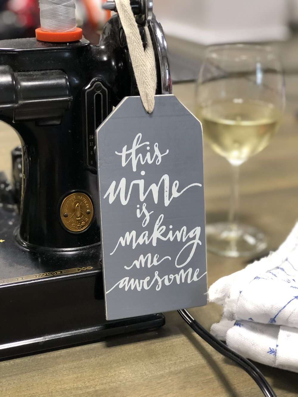 Cute wine bottle label found in town