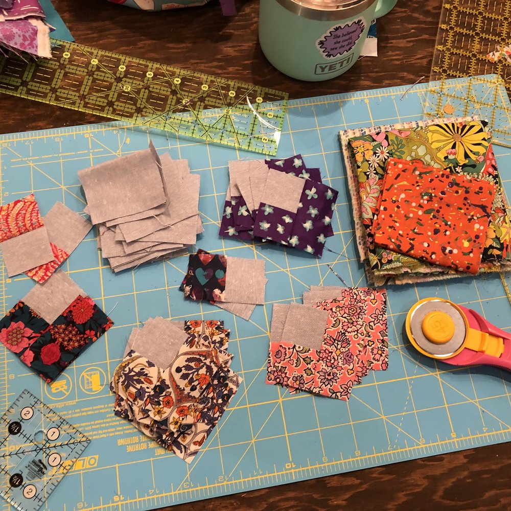 Liberty hearts in progress