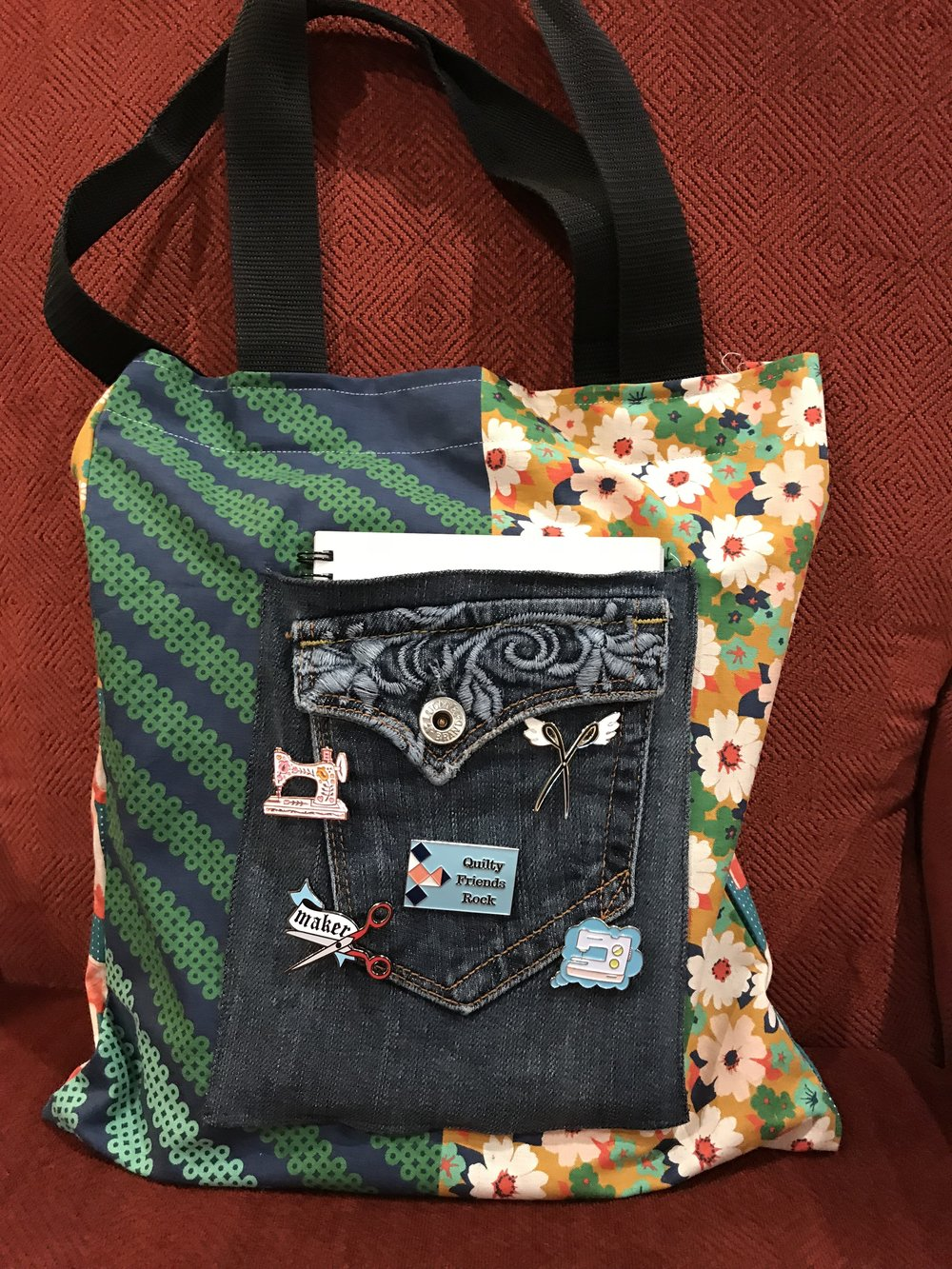 Jeans pocket on a tote bag
