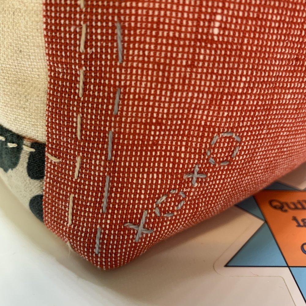 More stitching details