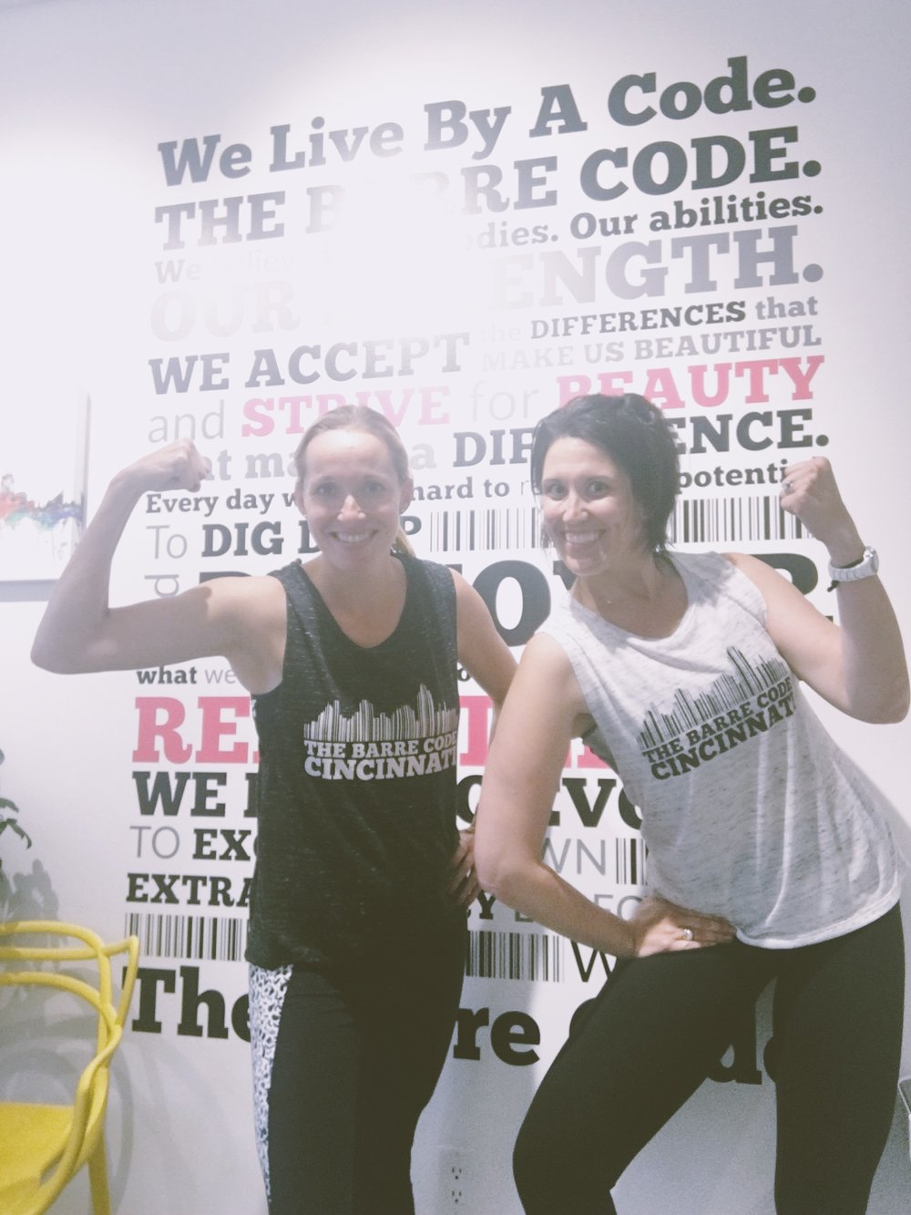 Meet Michelle, the owner of The Barre Code Cincy.  She's cool. My poseing, on the other hand, needs some work.