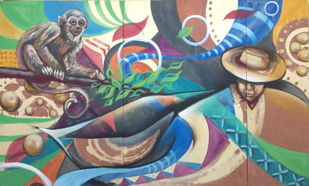 Erin Yoshi - Los Angeles, CA (USA)        Nacida en Los Angeles, CA. Arte de Erin Yoshi trasciende su caballete. Su obra es un reflejo de su viaje a través de las contradicciones de la vida ampliando lo bello, lo crudo y francamente feo. El trabajo es arraigado en sus memorias histórico culturales e informado de las condiciones mundiales. Ella utiliza su práctica creativa para inspirar, participar y transformar el espacio. A través de su práctica, ella se esfuerza por crear esperanza y líneas de camaradería.  ____________________________  Born in Los Angeles, CA. Erin Yoshi's artwork goes beyond the easel. Her artwork is a reflection of her journey through the contradictions of life amplifying the beautiful, the raw, and the downright ugly. The work is rooted in her historic cultural memories and informed by current global conditions. She uses her creative practice to inspire, engage and transform space. Through her practice, she strives to create hope and lines of camaraderie.