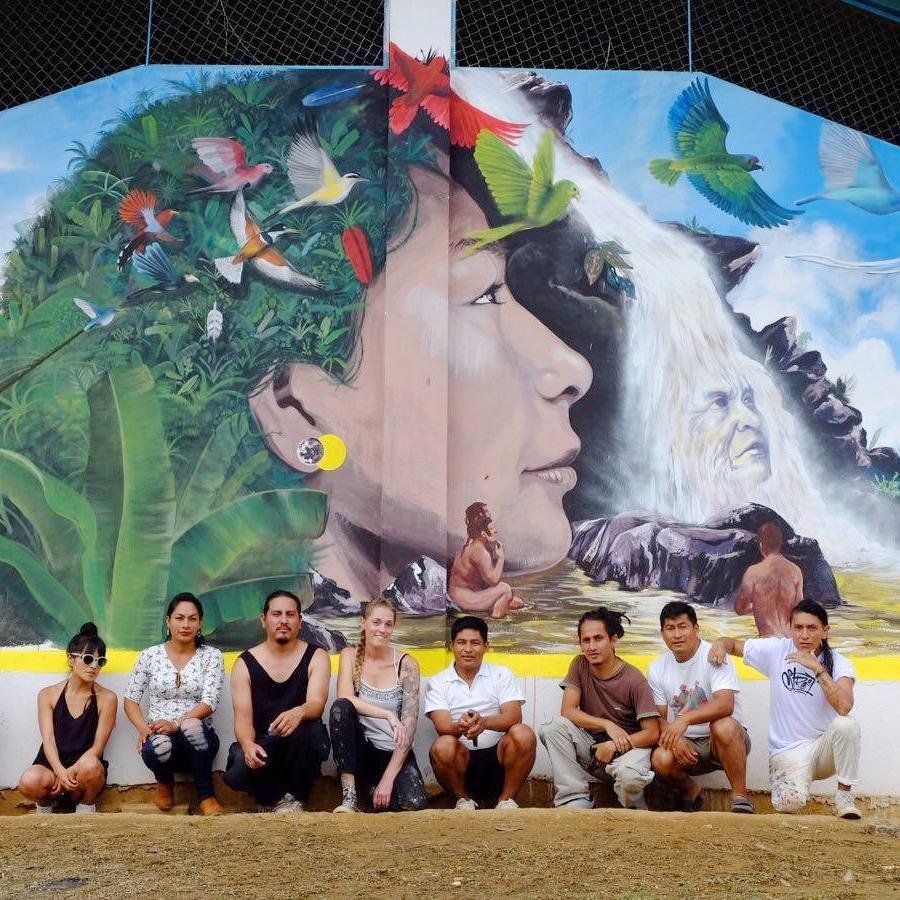 ZAMORA CHINCHIPE - FDC se une con Indómita Festival de Arte Urbano para su sexta edición, en que artistas internacionales and nacionales participan en un intercambio inmersivo con artistas locales y la comunidad Shuar para crear una galera de aire abierto que celebra las culturas diversas de Zamora y promuevan la consciencia medioambiental.