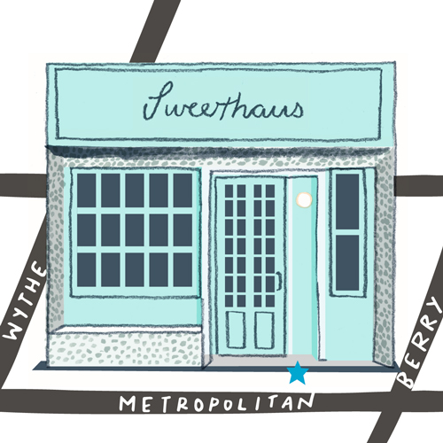 Lindsey Balbierz illustration map for YesWIlliamsburg - sweethaus