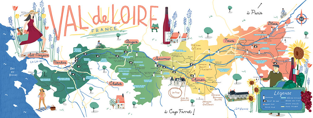 Chateau Loire Valley Map Www Bilderbeste Com