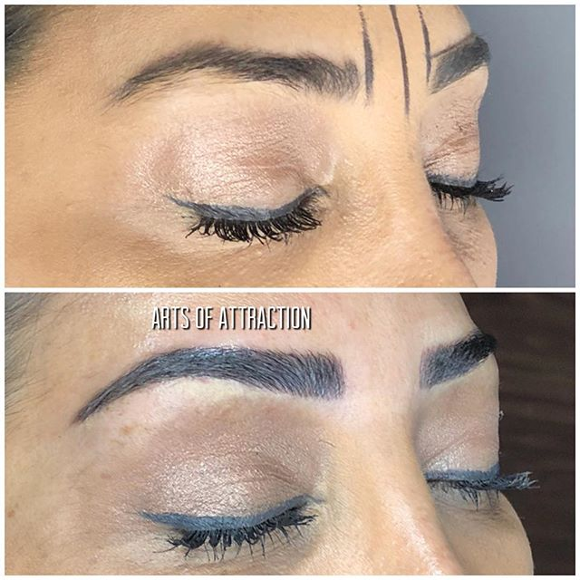 Can eyebrows be life changing?  YES!! ABSOLUTELY!!! 😍 #MICROBLADING BY Natalie  Book Appointment Online- www.bookaoa.com ☎️ 727-580-3558 www.artsofattractionllc.com 💌 Info@artsofattractionllc.com