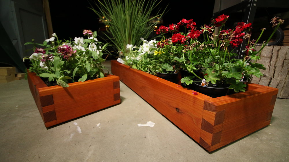 Redwood Flower Boxes