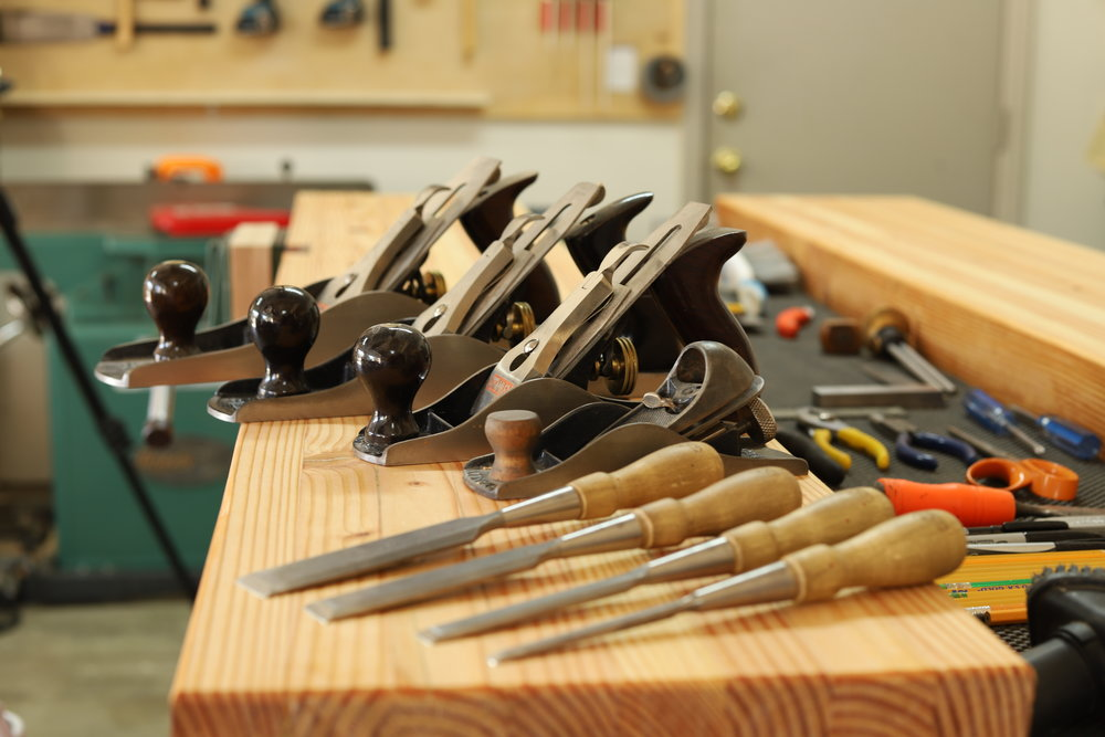 My hand tool collection is constantly growing. You can see many of the tools that I use on a regular basis to build my projects down below. On the contrary, restoring tools is an option that I, and many other woodworkers, have done. Old rusty tools are not hard to come by if you look in the right place. Some places to buy old tools: Ebay, craigslist, facebook marketplace, garage sales, tool swaps, antique stores, etc. Need tools??? Have a look below! Thanks