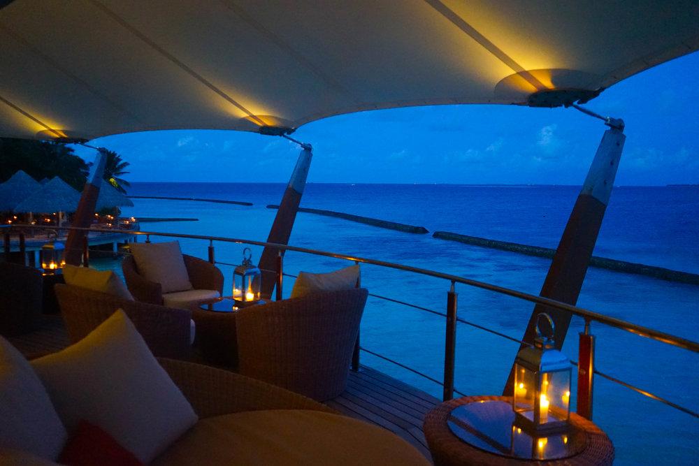 The amazing Lighthouse bar overlooking the tiki style Cayenne restaurant.