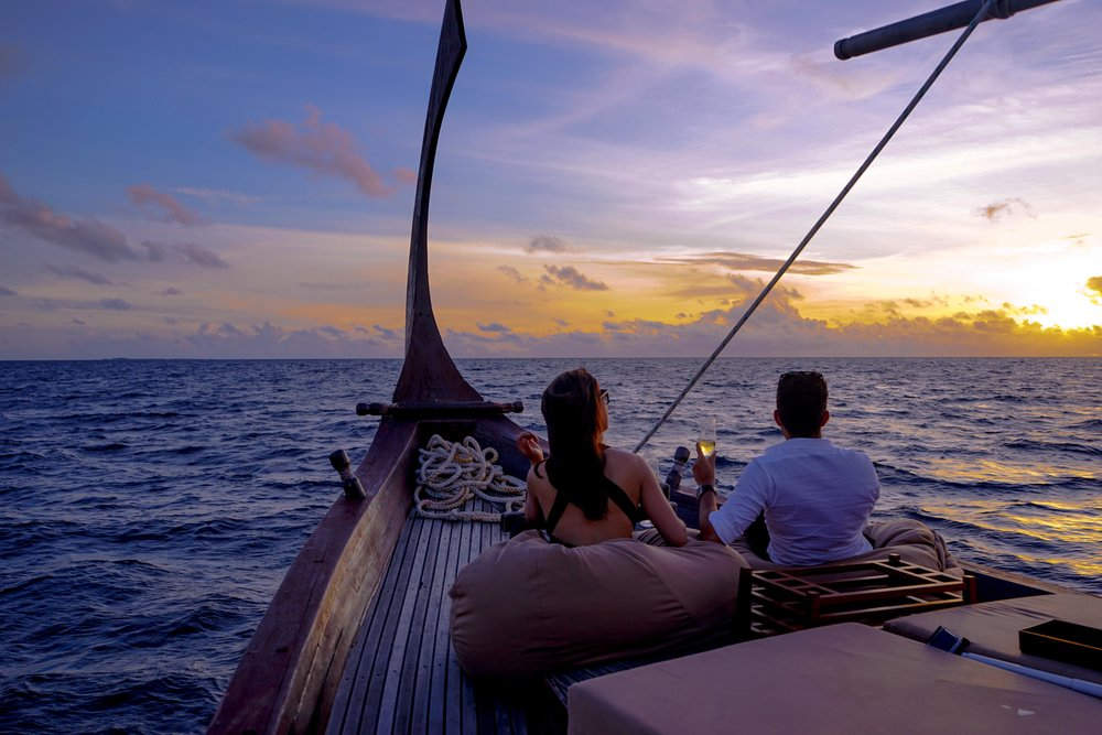 The most amazing time on the water EVER on the Nooma Sailing Cruise at Baros Maldives