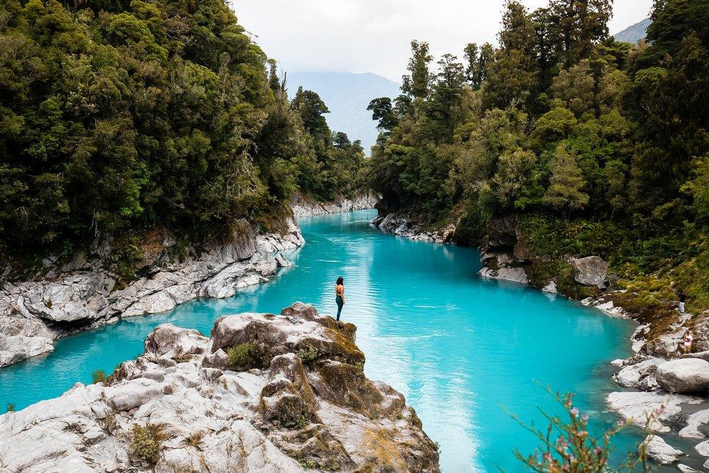 Hokitika Gorge on the West Coast of New Zealand