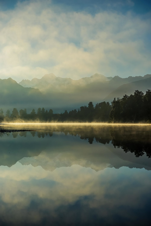 Sunrise at Lake Matheson