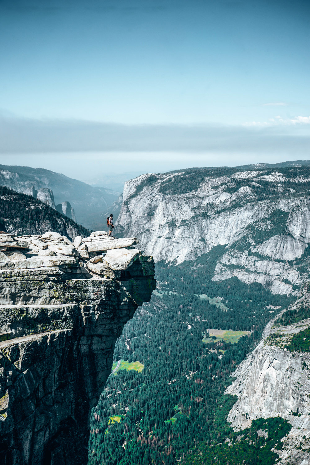 Living life on the edge from Half Dome