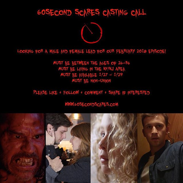 CASTING CALL!!! If you're an actor or actress in the NY/NJ area then we're speaking to you! // For more information click link to Backstage posting in our bio and check out our website www.60secondscares.com // Please Like + Follow + Comment + Share if interested! . . . . . #60SS #lightsoff #soundup #nyc #nj #casting #castingcall #actors #actresses #castingnyc #castingcall #nycactors #nycactress #audition #actor #actress #actorlife #actresslife #webseries #anthology #thriller #scary #indie #shortfilm #instafilm #movie #blackmirror #twilightzone
