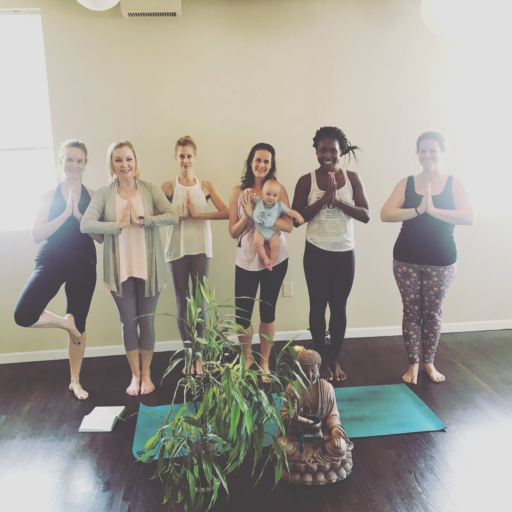 Donation Classes - We are always open to hosting special benefit workshops which invite students to donate to a cause while practicing. All proceeds go to a chosen charity. Pictured: Trini Foundation Class