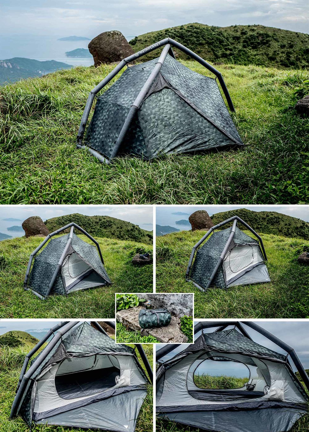 Heimplanet Fistral - Probably the most controversial and at the same time coolest bit of gear I own are my Heimplanet tents.  Traditionalists will complain that inflatable frames can't be reliable, ultra lighters will scoff at the 5lbs carry weight, but I guarantee anyone making these complaints hasn't tried these tents as a regular sleep system. I have used this consistently with great results.  It packs up and unloads with groundsheet, rainfly, and inner mesh all attached and inflates in about 1-2 minutes.  This means that you can set it up in pouring rain and the inside will be bone dry.  The inflatable frame is also great in high wind as there is a little give and they just snap back into place, you'll never break them. I've even forgot the pump on one occasion and was able to blow it up manually with a little bit of patience and there is a multi chamber technology meaning you'll never have to worry about punctures.  The only small criticism I have is that it squeaks a bit when you pump it up.  Love this tent and highly recommend it! Buy Fistral
