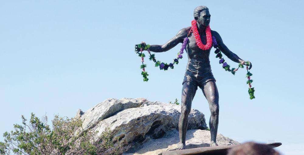 Duke Kahanamoku Statue at Freshwater /Curl Curl Headland