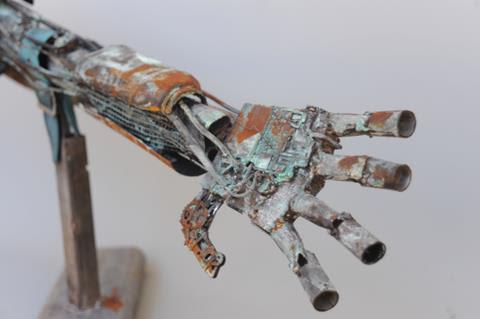 Kyle Levett, Bionic junk , mixed media sculpture, St Pauls Catholic College