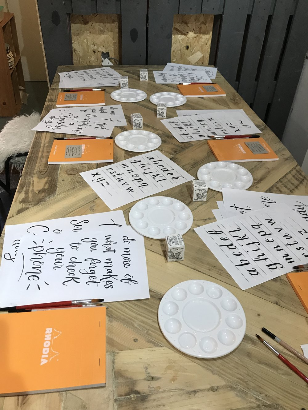 Brush Lettering£40 all materials included. - ———————————————————————————Where : Mon Amie, KibworthWhen : 18th September 6-8:30pmBook :Spaces are £40, to book follow the link : https://www.monamieliving.co.uk/product-page/brush-lettering-for-beginners
