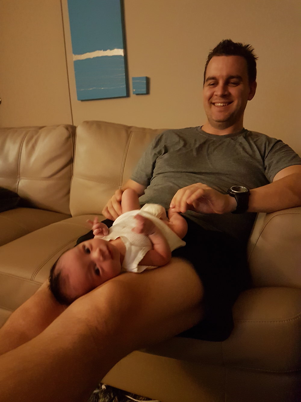 Elise with her HypnoDad Adam