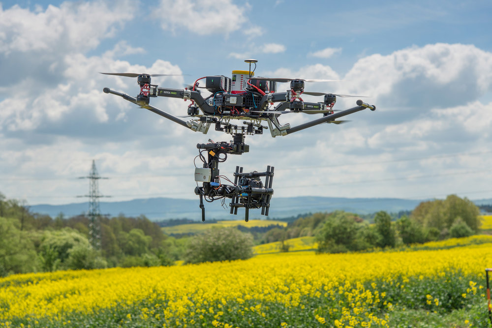 Aricultural drone mapping fields with hyperspectral camera
