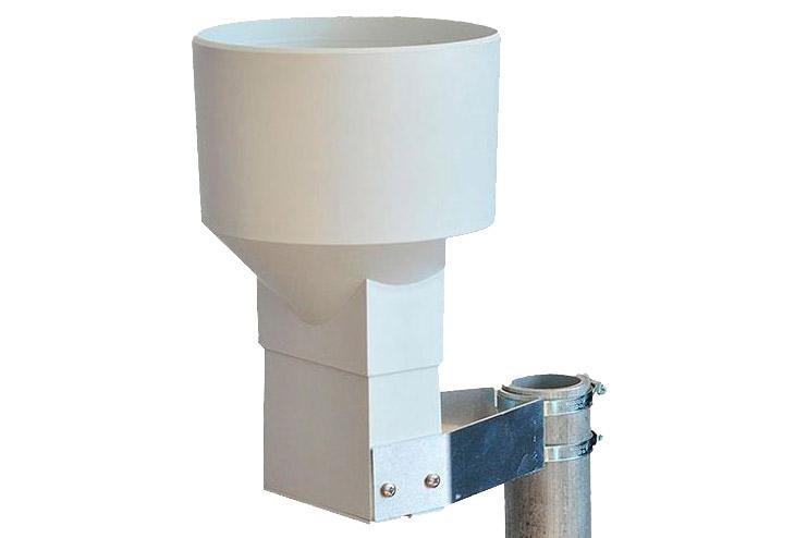 MeteoRain SEB200 rain gauge pipe mounting