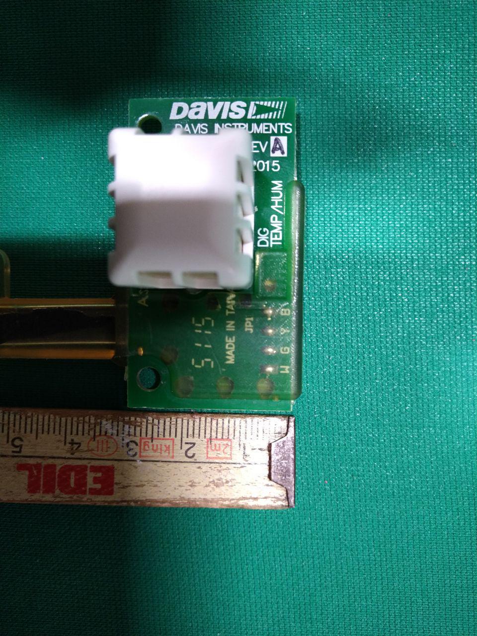 Davis temperature and humidity sensor width dimension