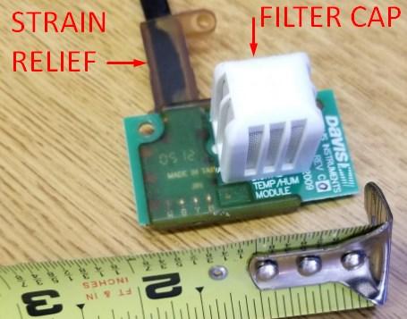Davis temperature and humidity sensor description