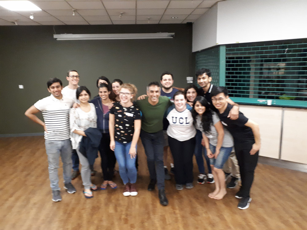 Saeed (Centre) with the participants of the Merengue workshop he hosted as part of the Beginner's Dance Workshops at IH.
