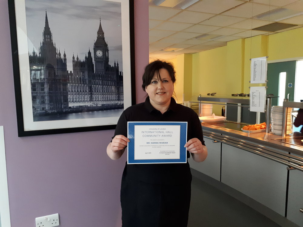 Hanna Wasiak, this month's winner of the IH Community Award.