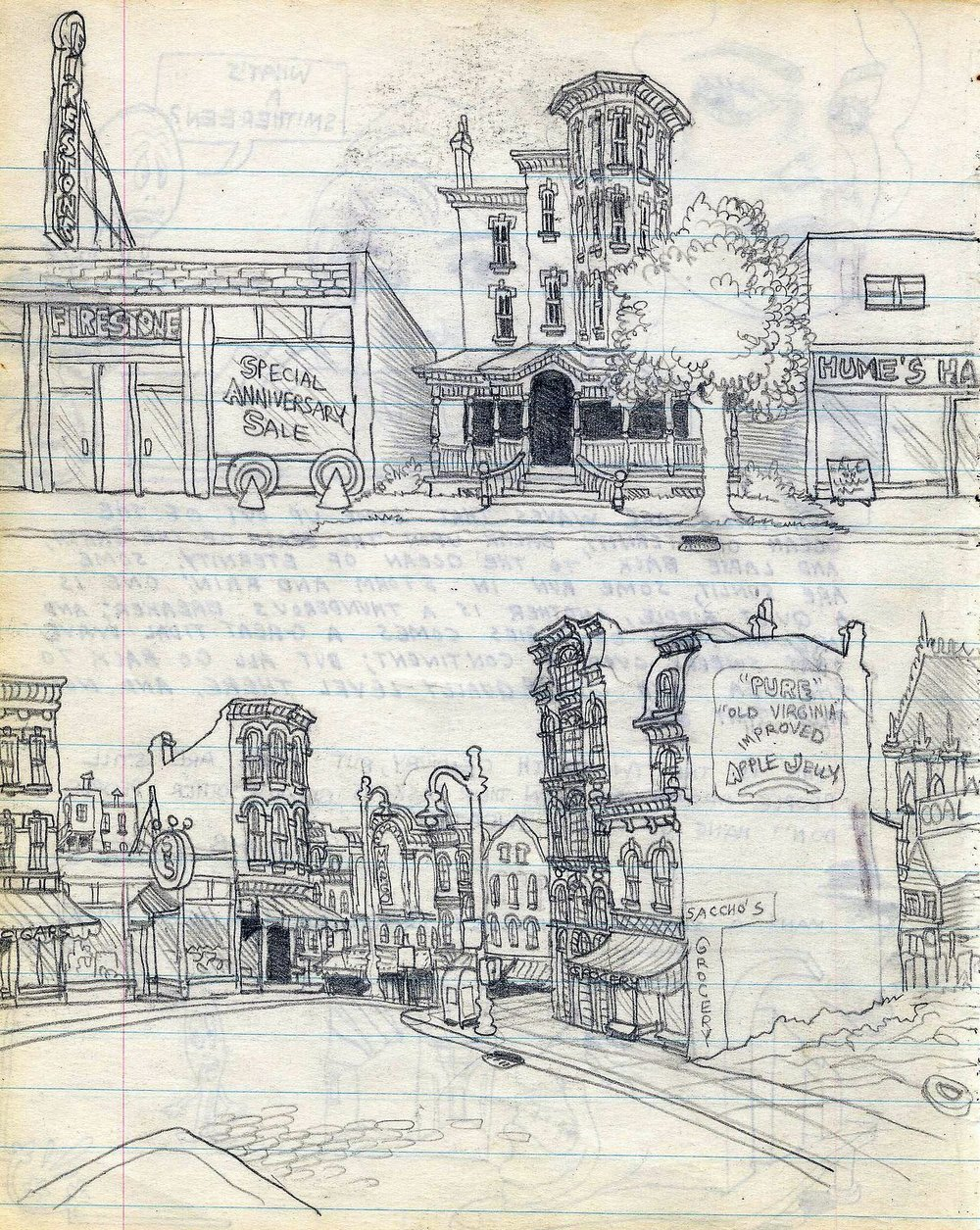 Сторінка зі скетчбуку Роберта Крамба, 1962