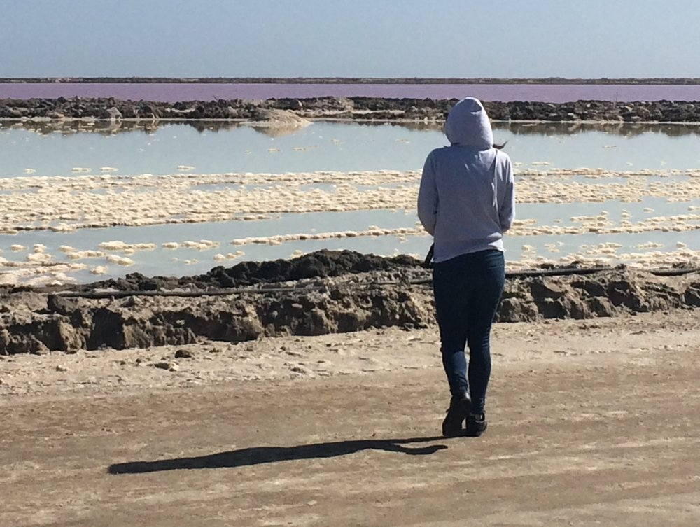 Salt pans close to Walvis Bay/Swakopmund