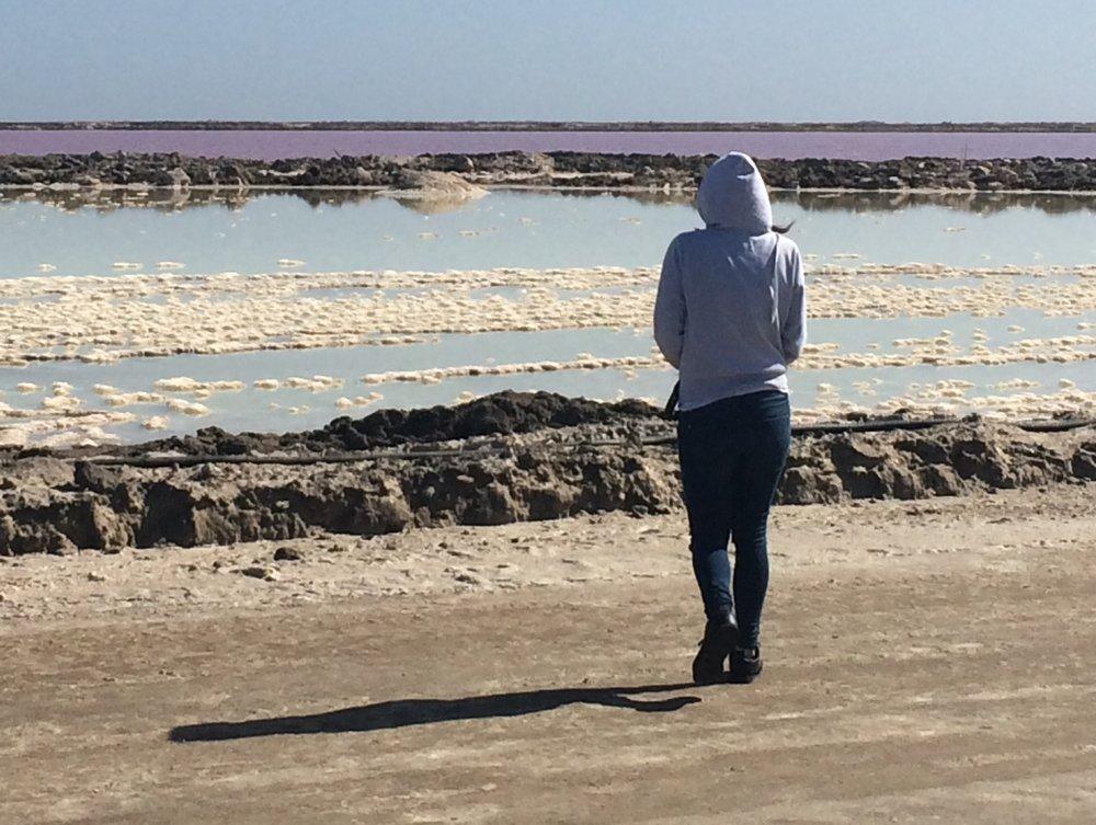Salt pans close to Walvis Bay/Swakopmund