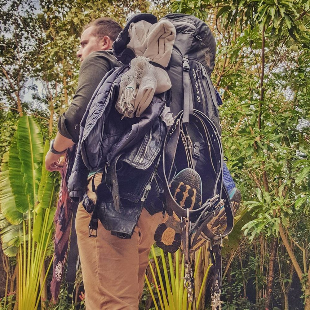 Backpack (en Lake Bunyonyi, Kabale, Uganda)