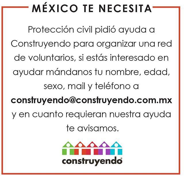 Fuerza México. Somos uno y vamos todos juntos.