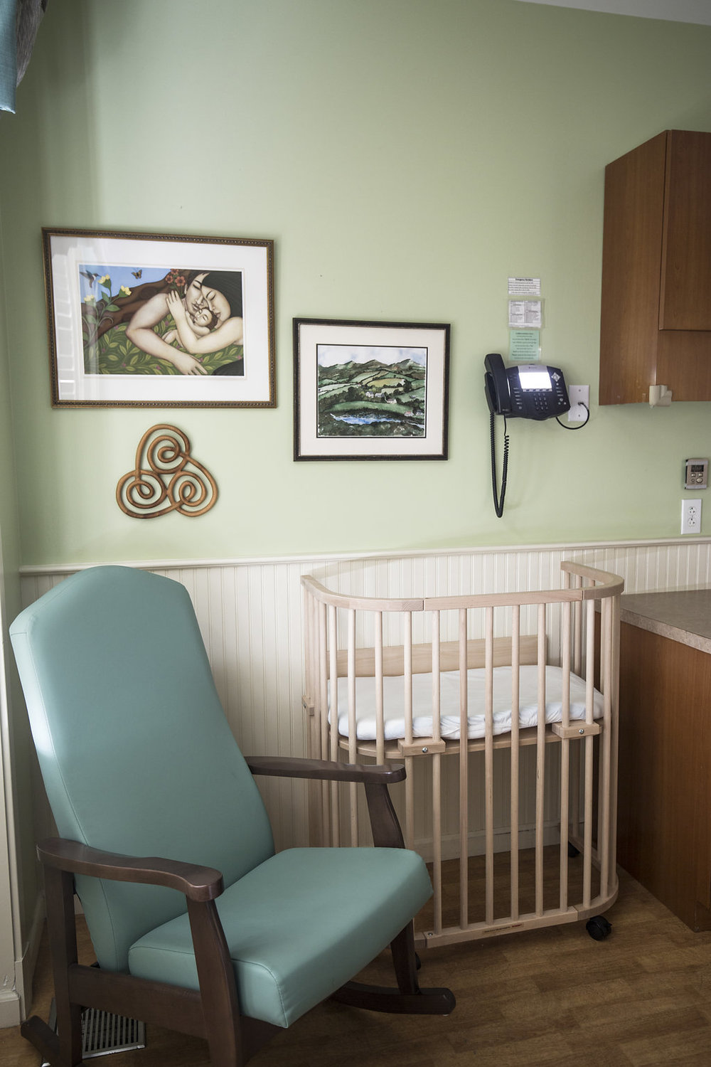 Healthcare Design Green Birth Suite Artwork