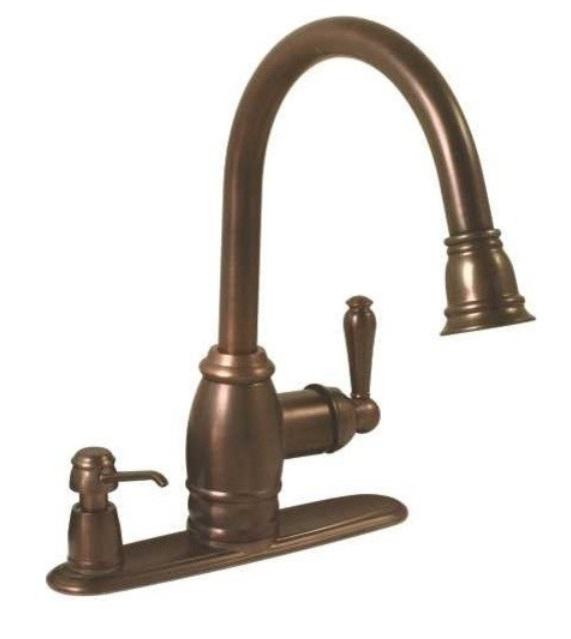 Premier Sonoma Pull-Down Kitchen Faucet With Soap Dispenser
