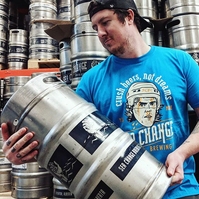 The hope is real. Keep it alive, tag McJesus himself @mcdavid97 and send him some positive vibes. It ain't over till it's over!!! 🍻 . Shirt drop this Saturday at the Taproom . #GREATBEERFROMRIGHTHERE #crushbeersnotdreams #seachangebrewingco #seachangebeer #yegbeer #gooilers