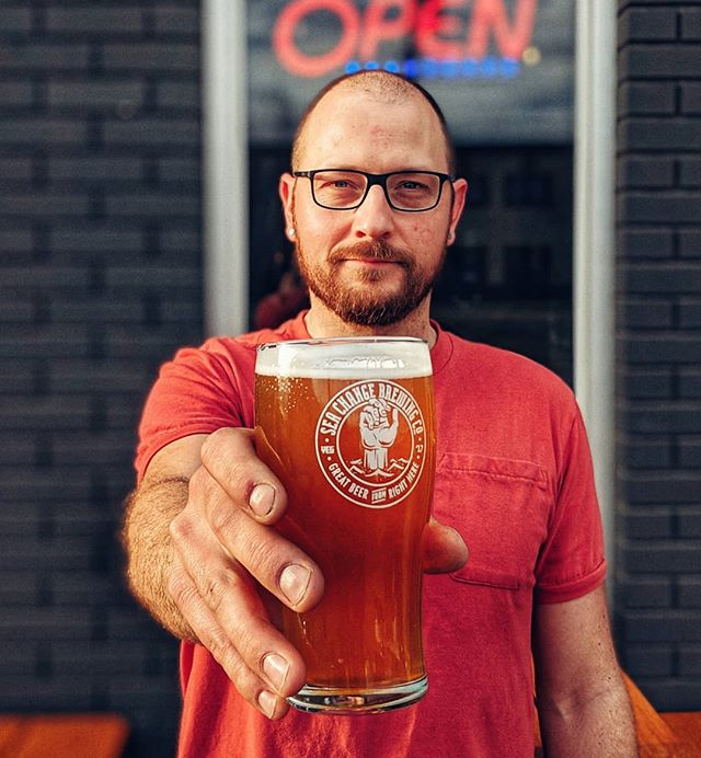 We got a damn patio cause in Edmonton patio season starts as soon as the snow melts. Justin says 'Do it' Patio is officially open today 🍻 . . #GREATBEERFROMRIGHTHERE #patioszn #yegcraftbeer #yegbeer #seachangebrewingco #seachangebeer