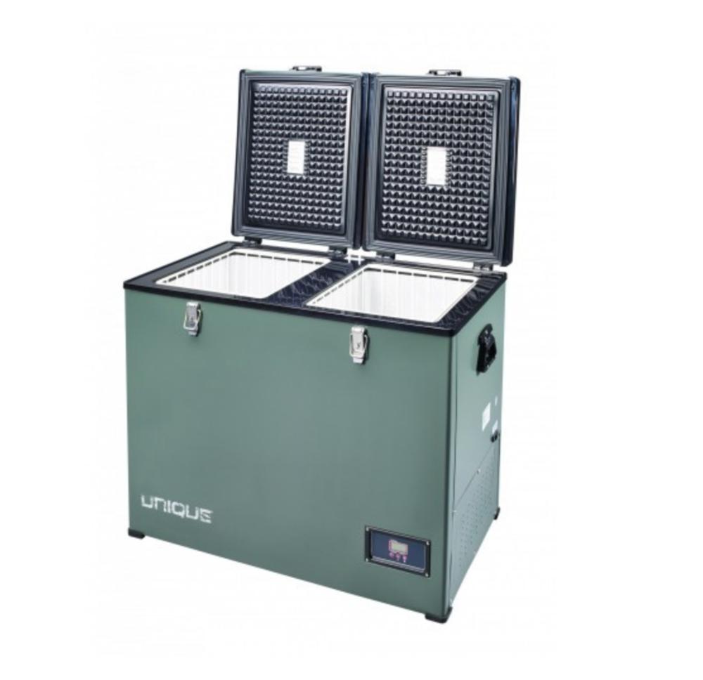 Unique UGP-120L1 Portable Solar 12V/24V DC or 110V AC Powered Refrigerator-Freezer 4.2 cu/ft