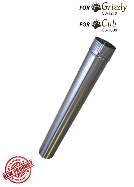 "CB-3024-SS 3"" Stainless Steel Double Wall Flue Pipe, 24"" section (x 2)"