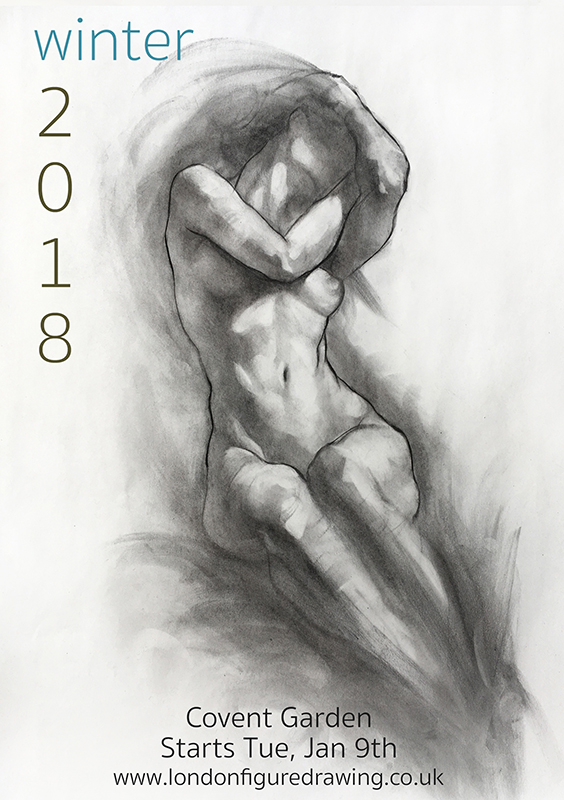 Life Drawing & Anatomy  - Covent Garden, Starts Tue Jan 9th (8 weeks)