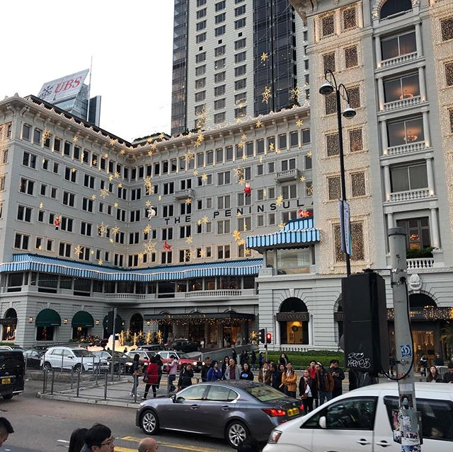 "Just returned from Asia last night for quick yearend business. Rare to see the Peninsula outfitted for the holidays and in this light. A ""Hong Kong moment"" ... . - - - - #hongkong #internationaldistribution #peninsulahotelhongkong"