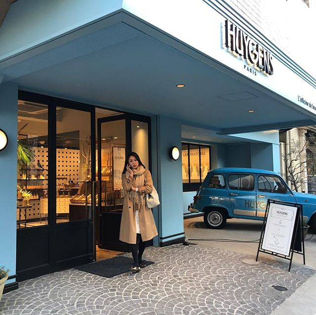 Huygens Paris. A favorite little fragrance shop of mine in Omotesando Japan. Great retail concept - reminds me of a French Le Labo. Love the classic car tie-in. Need to find out what that is .. #huygensparis  #omotesando