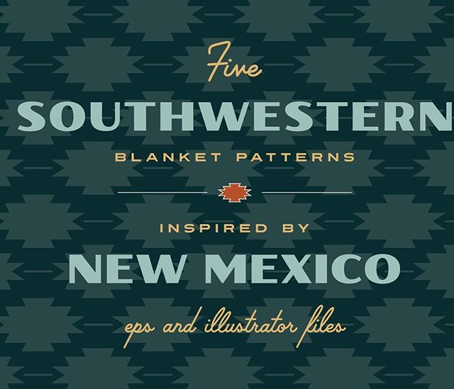 Launched a @creativemarket shop this week! Starting out with a few Southwestern patterns! Link in profile. #design #southwestern #patterns #graphicdesign #shop #graphics #newmexico