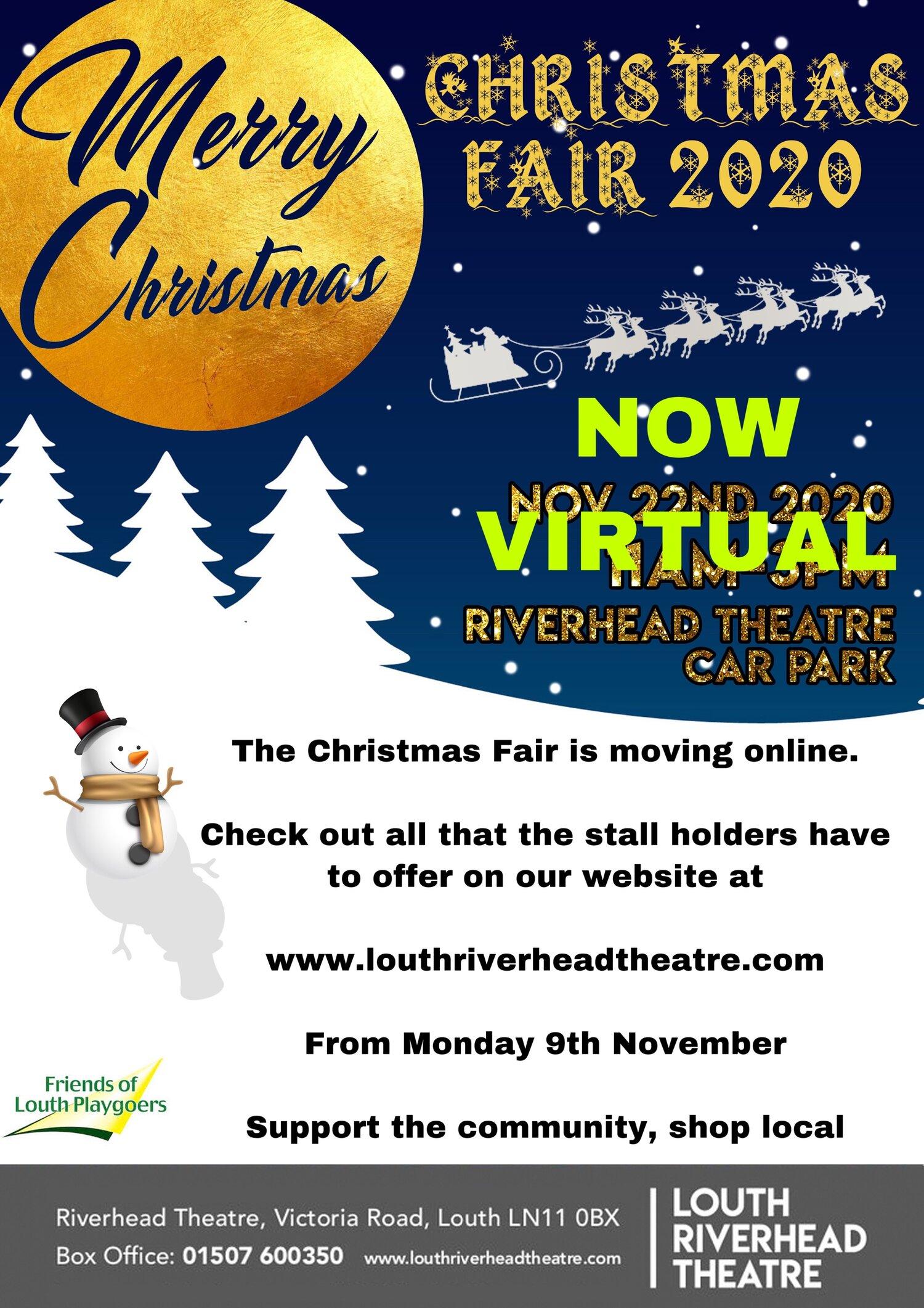 Louth Christmas Market Parking 2020 Virtual Christmas Fair 2020 — Louth Riverhead Theatre