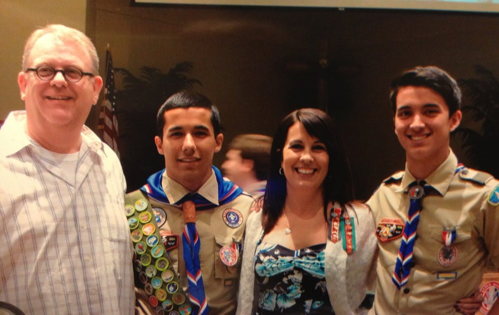 Eagle Scout ceremony, 2013 - presented with the trophy by Eagle Scout & brother Andrew