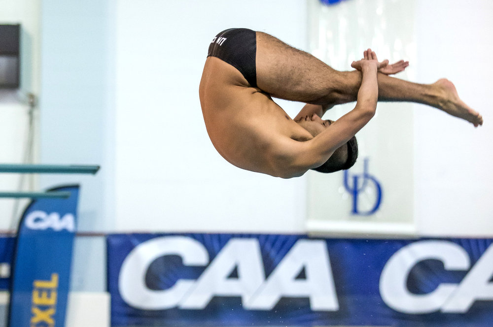 Gold medal dive at the 2015 CAA Conference Championships