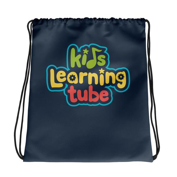 NEW!  Kids Learning Tube Logo Drawstring Bag (Navy)  $22.00